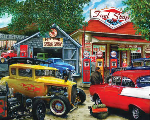 Hot Rod Cafe 1000 Piece Jigsaw Puzzle