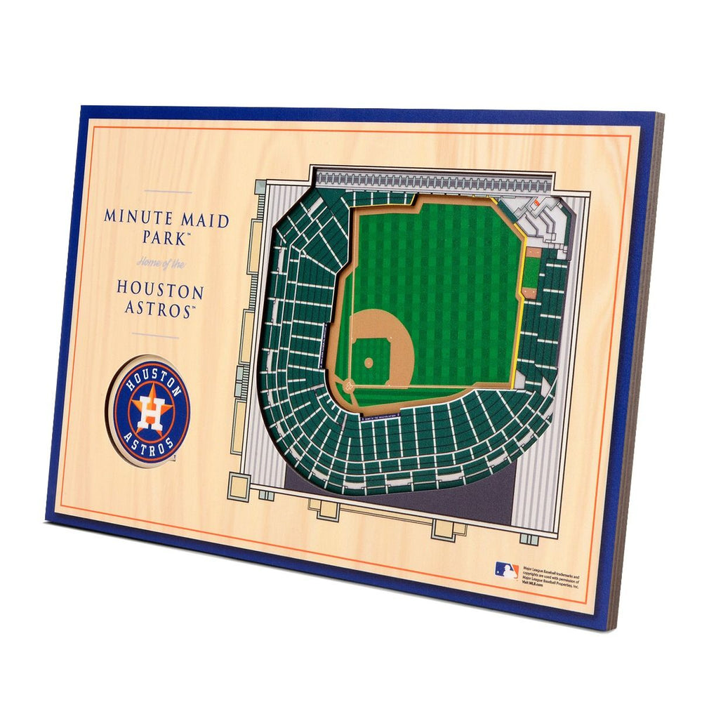 Houston Astros 3D Stadium Desk Plaque
