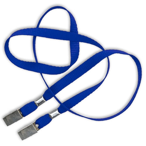 Blue Two Clip Lanyard for Face Masks