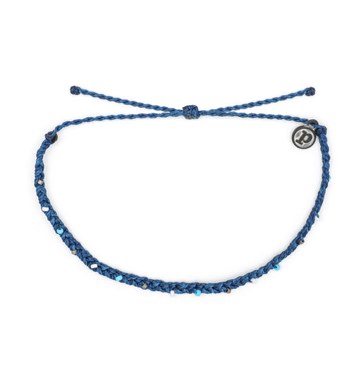 Mini Braided Anklet in Marine Blue
