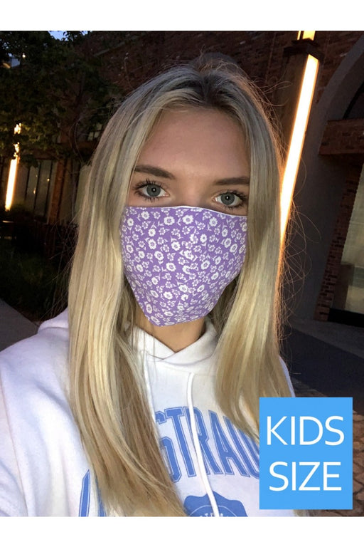 Kids Lilac Floral Face Mask
