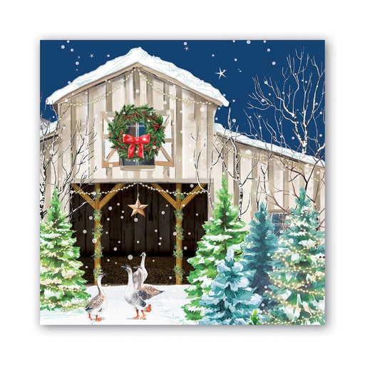 Christmas Snow Lunch Napkins