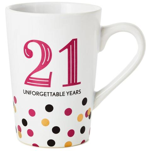 21 Unforgettable Years Ceramic Mug
