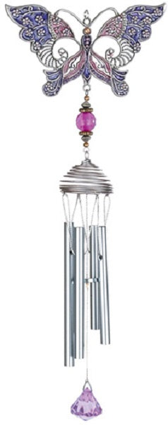 Purple Pewterworks™ Butterfly Chime