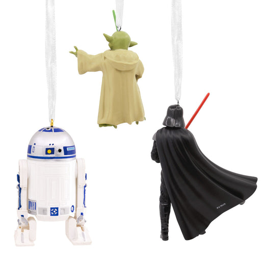 Star Wars™ Darth Vader™, R2-D2™ and Yoda™ Hallmark Ornaments