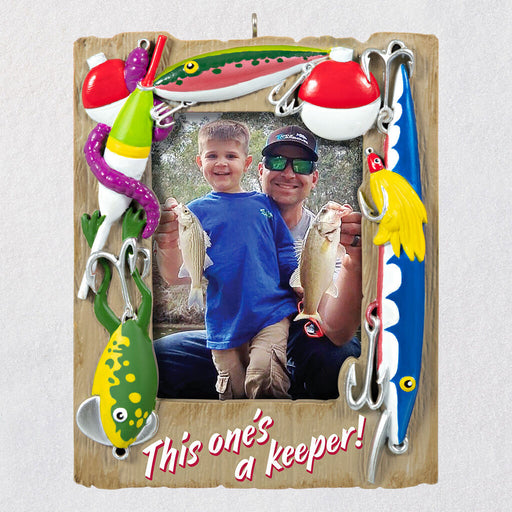 A Reel Keeper Fishing Photo Frame Ornament