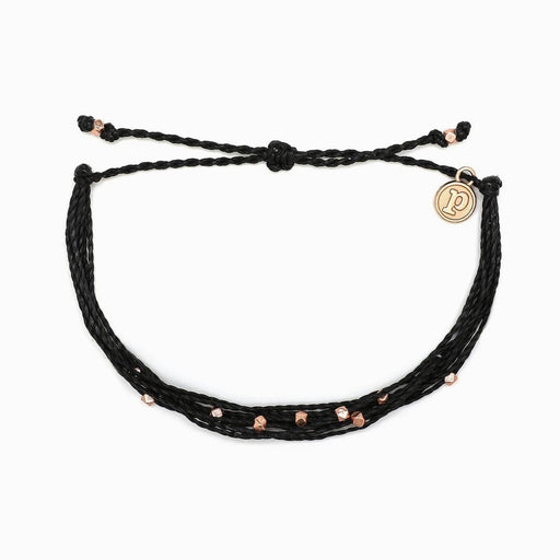Rose Gold Malibu Bracelet in Black