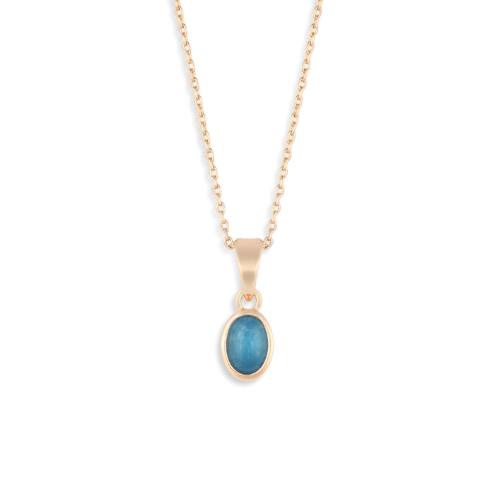 Gold Giving Necklace - Aquamarine