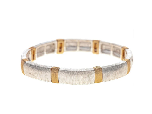 Two Tone Brush Finish Bracelet