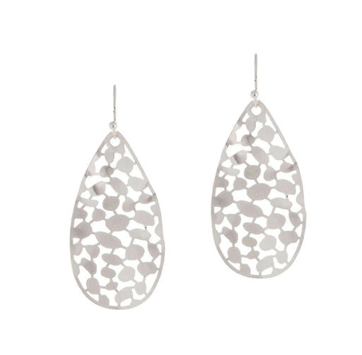 Silver Leaf Wavy Earrings