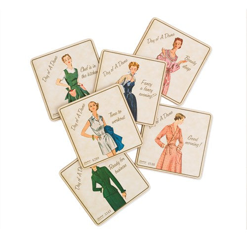 Simplicity Vintage Day of a Dame Coasters