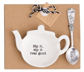 Sip It Tea Spoon Rest Set