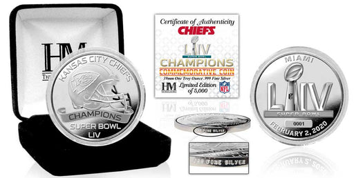 Copy of Kansas City Chiefs Super Bowl 54 Champions Pure Silver Mint Coin