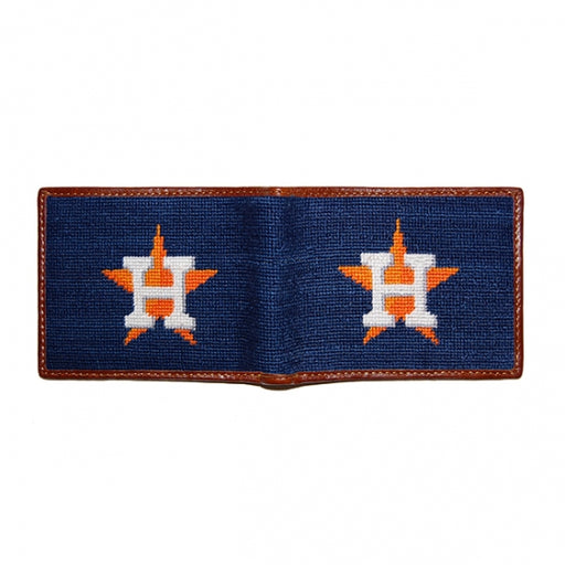 Houston Astros Needlepoint Bi-Fold Wallet