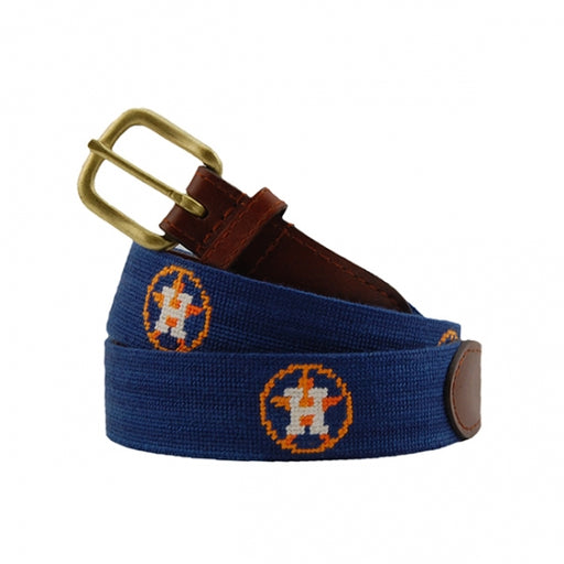 Houston Astros Needlepoint Belt