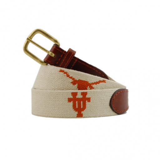 University of Texas (Light Khaki) Needlepoint Belt