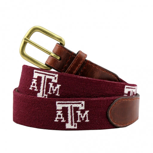 Texas A&M (Maroon) Needlepoint Belt