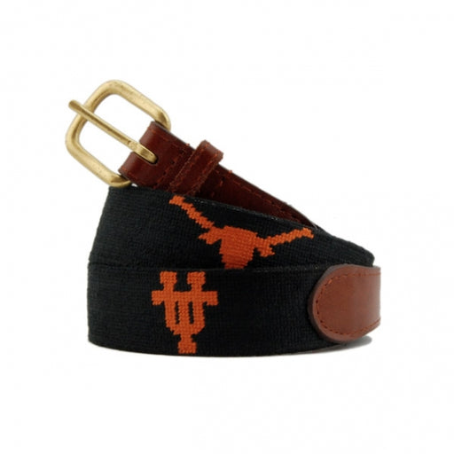 University of Texas (Black) Needlepoint Belt