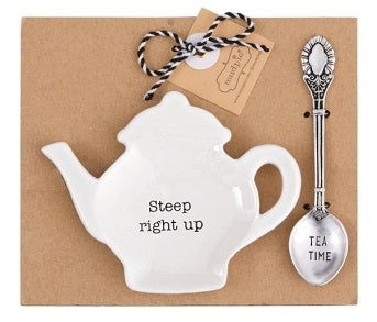 Steep Right Up Tea Spoon Rest Set