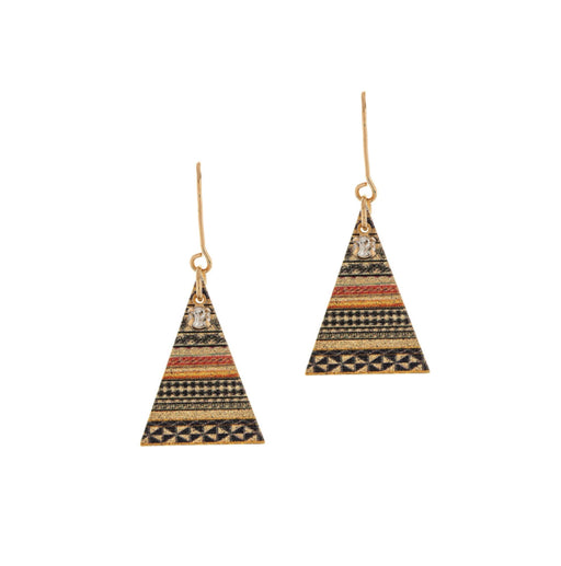 Gold Multi Pattern Tipi Earrings