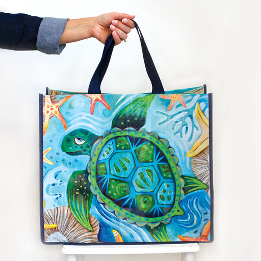 Happy Turtle Shopper Bag