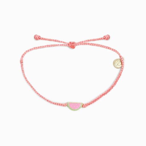 Watermelon Charm Bracelet in Light Pink