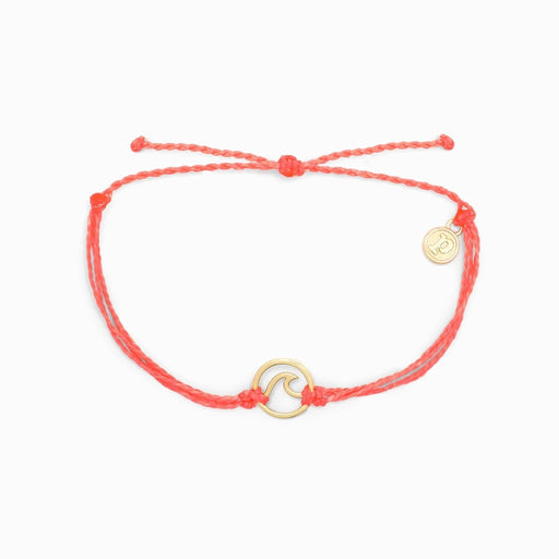 Gold Wave Charm Bracelet in Strawberry