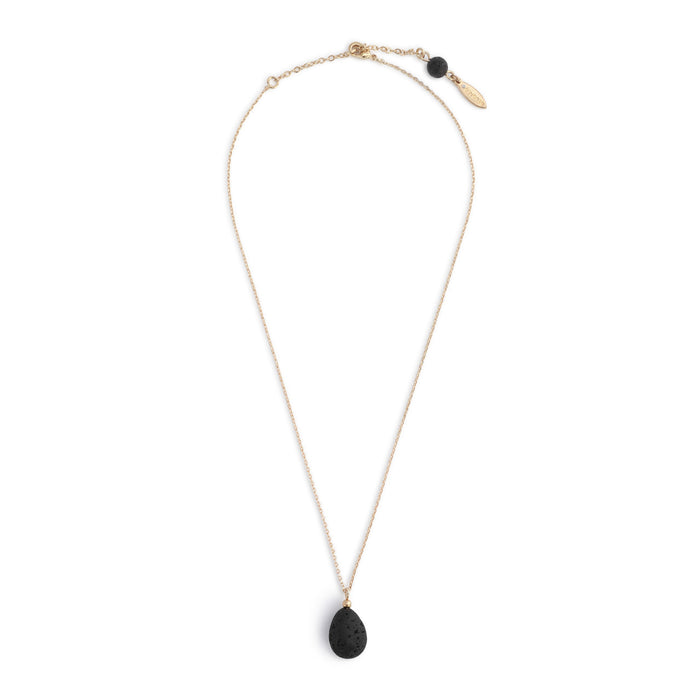 Aromatherapy Teardrop Necklace in Gold
