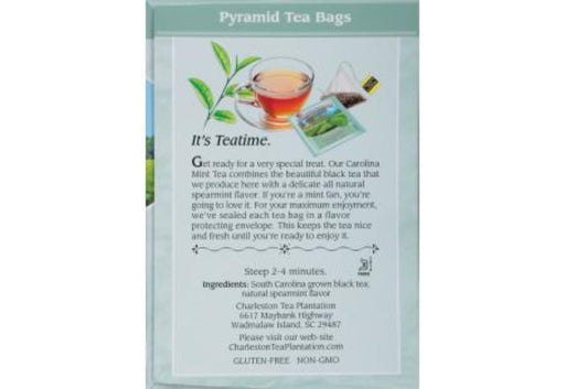 Carolina Mint Black Tea Pyramid Bags