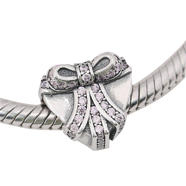 925 Sterling Silver Heart Gift Charm Bead Fits Pandora Charm Bracelet Pendant