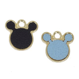 8 Pcs Mickey Leather Charm Craft Supplies 16mm x 16mm