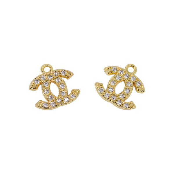 2 Pcs 24K Gold Plated Charm for Jewelry Making