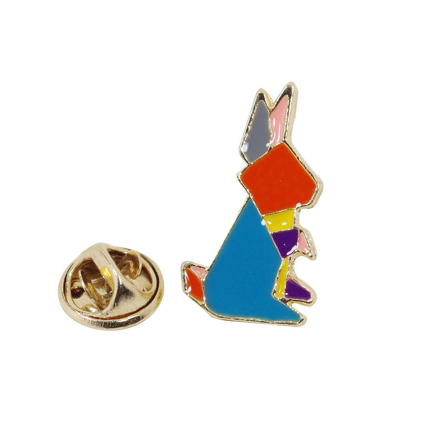Geometric Kangaroo Enamel Pin With Gift Box