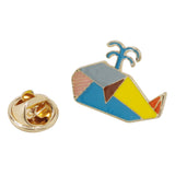 Geometric Dolphin Enamel Pin With Gift Box