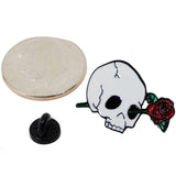 Rose In Skull's Eye Enamel Pin With Gift Box