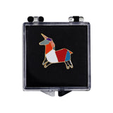 Geometric Horse Enamel Pin With Gift Box