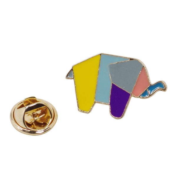 Geometric Elephant Enamel Pin With Gift Box