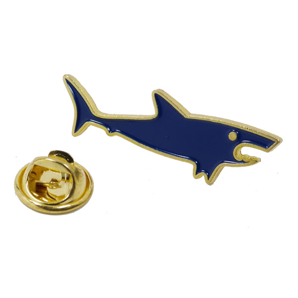 Little Blue Shark Enamel Pin With Gift Box