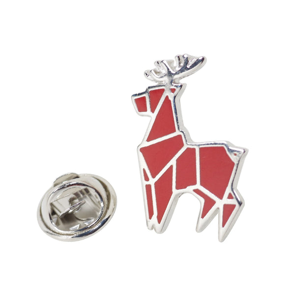Red Deer Enamel Pin With Gift Box