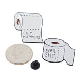Shit Happiness Shit Well Enamel Pin With Gift Box