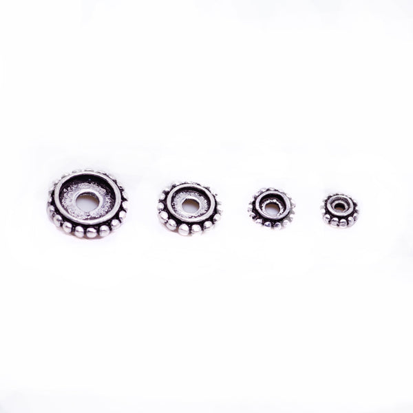 6 Pcs Vintage 925 Sterling Silver Spacer Bead for Jewelry Making