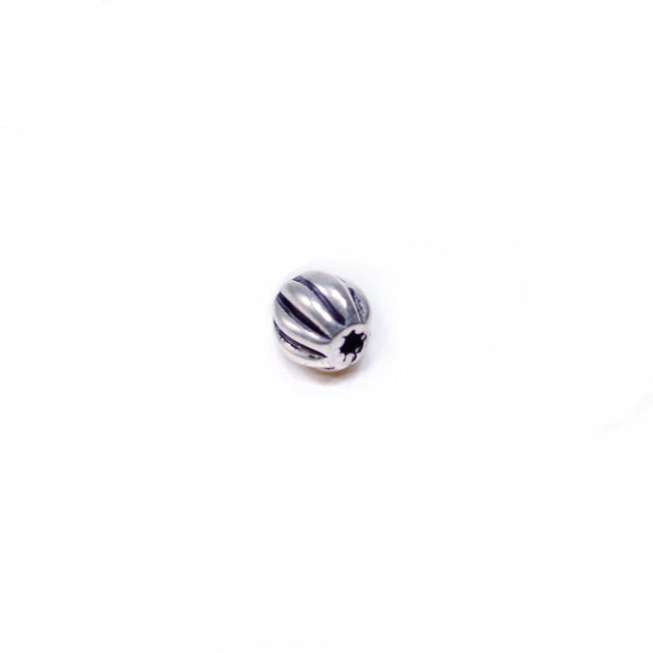8 Pcs Vintage 925 Sterling Silver Spacer Bead for Jewelry Making, Watermelon Shape