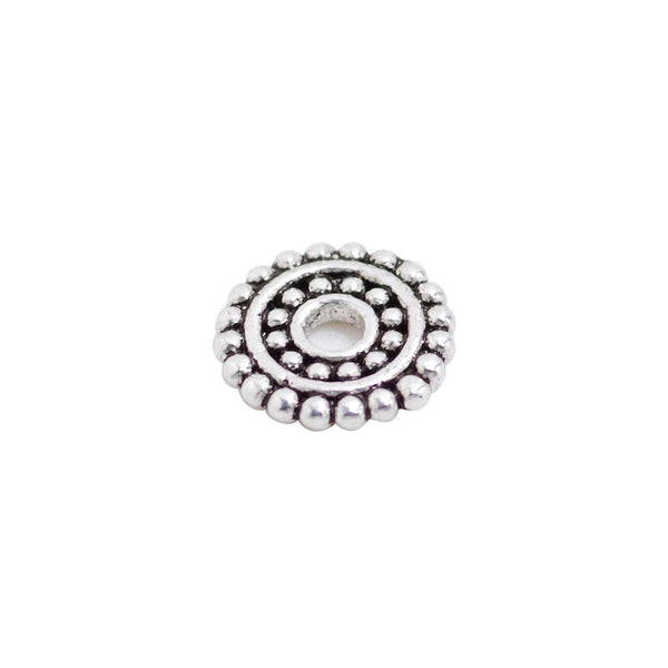 6 Pcs Vintage 925 Sterling Silver Flower Spacer Bead for Jewelry Making