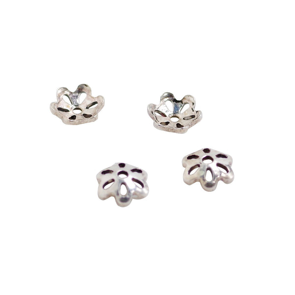 4 Pcs Vintage 925 Sterling Silver Beadcap - Perfect for 6mm Gemstone
