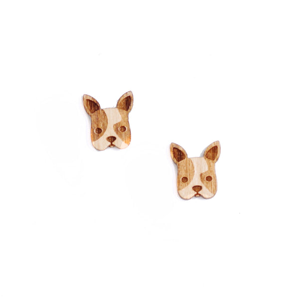 8 Pcs Dog Charm - Wooden Jewelry Making Supplies