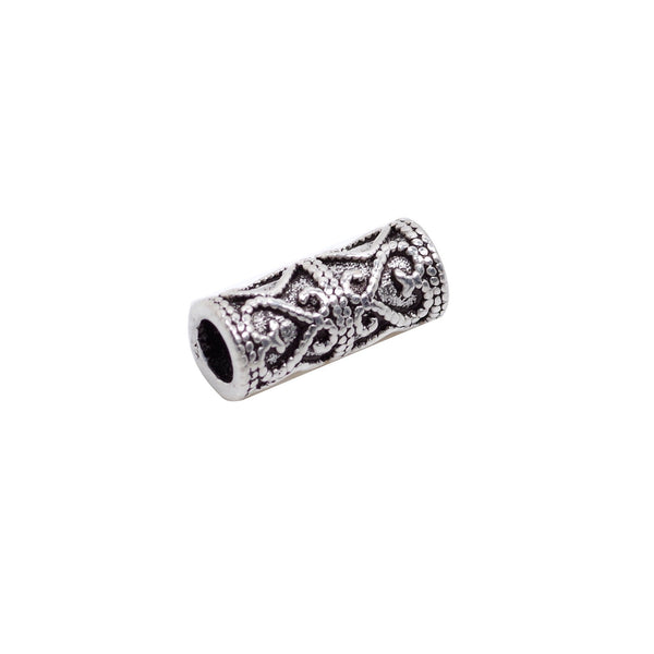 Vintage 925 Sterling Silver Tube Spacer Bead