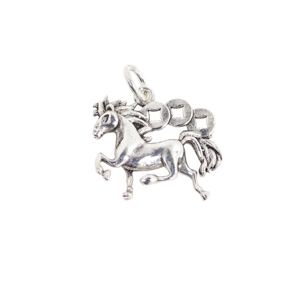Vintage 925 Sterling Silver Unicorn Charm with Close Jump Ring