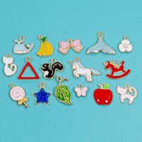30 Pcs Bulk Wholesale Cute Enamel Charms