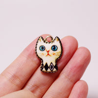 4 Pcs Cute Cat Enamel Charm Jewelry Bracelet Pendant