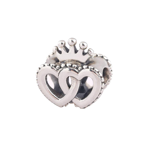 Authentic Pandora Charm Heart Crown Bead
